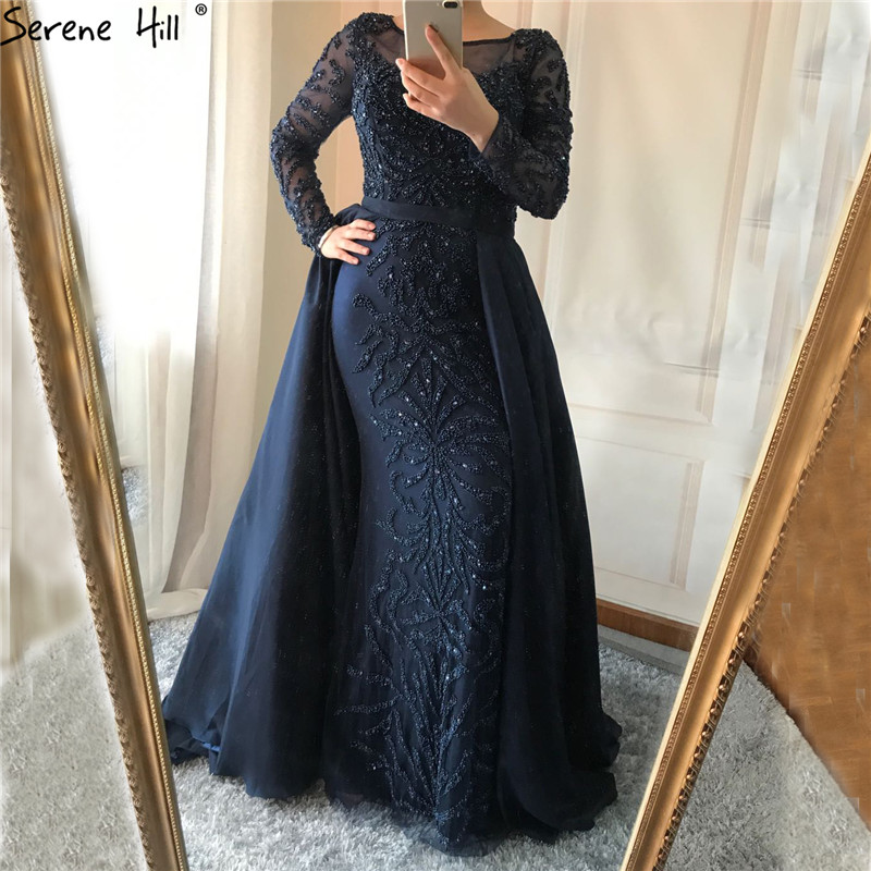 LUXURY CRYSTAL BEADING LONG TRAIN EVENING GOWN e3208b7cef70
