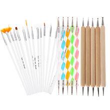 20Pcs DIY Nail Art Design Painting Dotting Pen Nail Drawing Self Design Brushes Manicure Bundle Tool Kit Set(All)