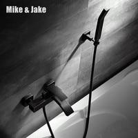 Черный душевой смеситель простой смеситель для душа телефон в ванной комнате смеситель для ванны с ручной душ, ванная комната, Душ коснитес