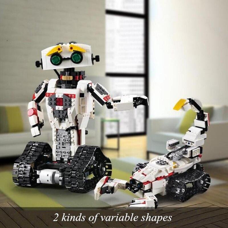 2in1 Technic télécommande RC Transformation déformation Robot blocs de construction Robot briques bricolage jouets éclairer pour les enfants