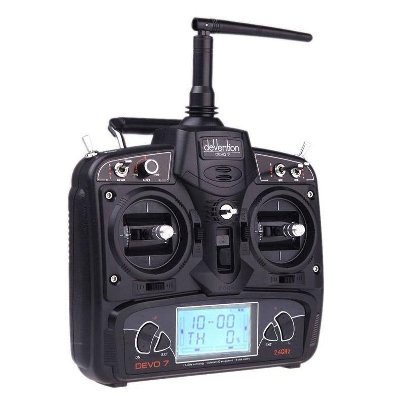 LeadingStar Original Walkera Devo 7 Transmitter 7 Channel DSSS 2.4G Transmitter Remote Controller without Receiver D30 walkera devo f12e specialized fpv 32 channel telemetry radio 5 8ghz 12 channel lcd screen free ship