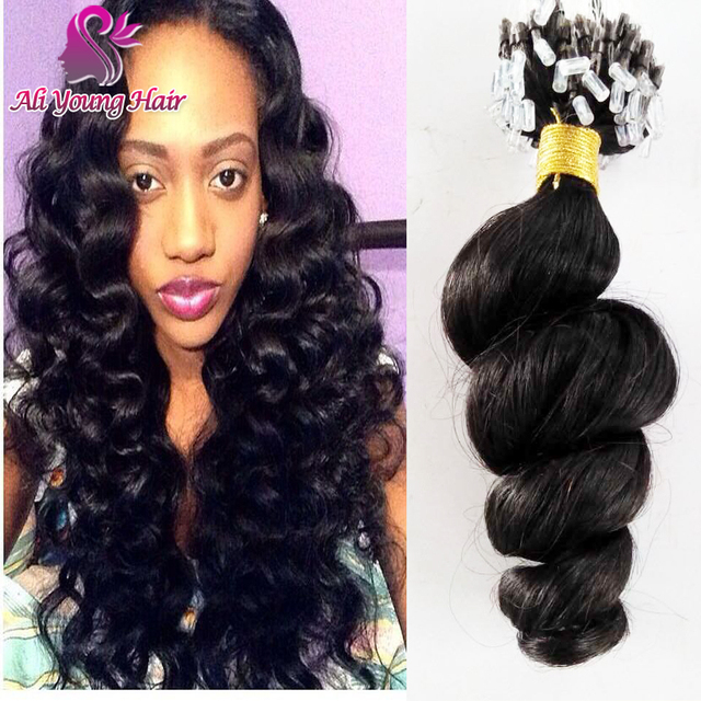 Virgin Brazilian Micro Loop Human Hair Extensions Human Hair Remy