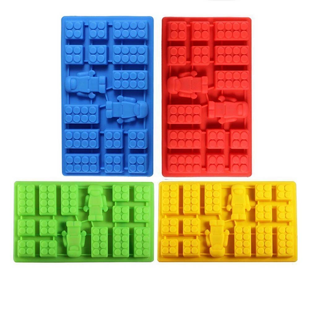 Square Robot 2 In Toy Brick Shape Silicone Chocolate Mould Bakeware Color Random