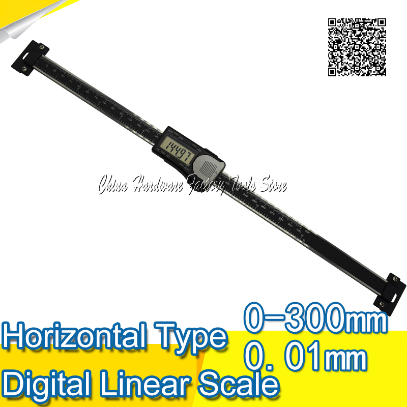 Free Shipping 0-300mm High Accuracy Black Horizontal Scale Type Digital Caliper horizontal digital caliper