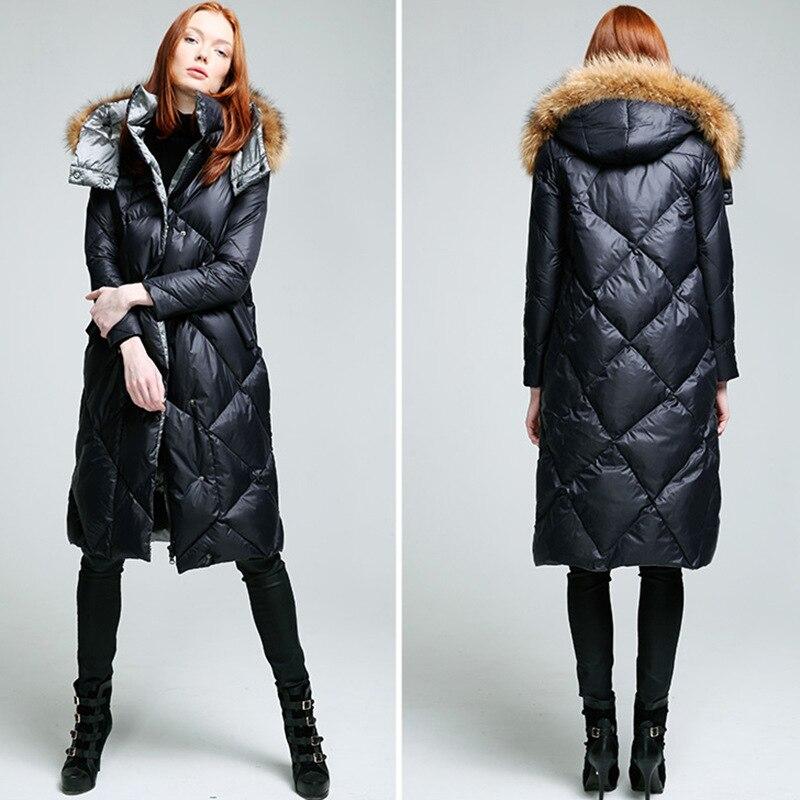 245443543fe56c real raccoon fur collar puffer coats down parka jacket 2016 brand real fur winter  coat women's