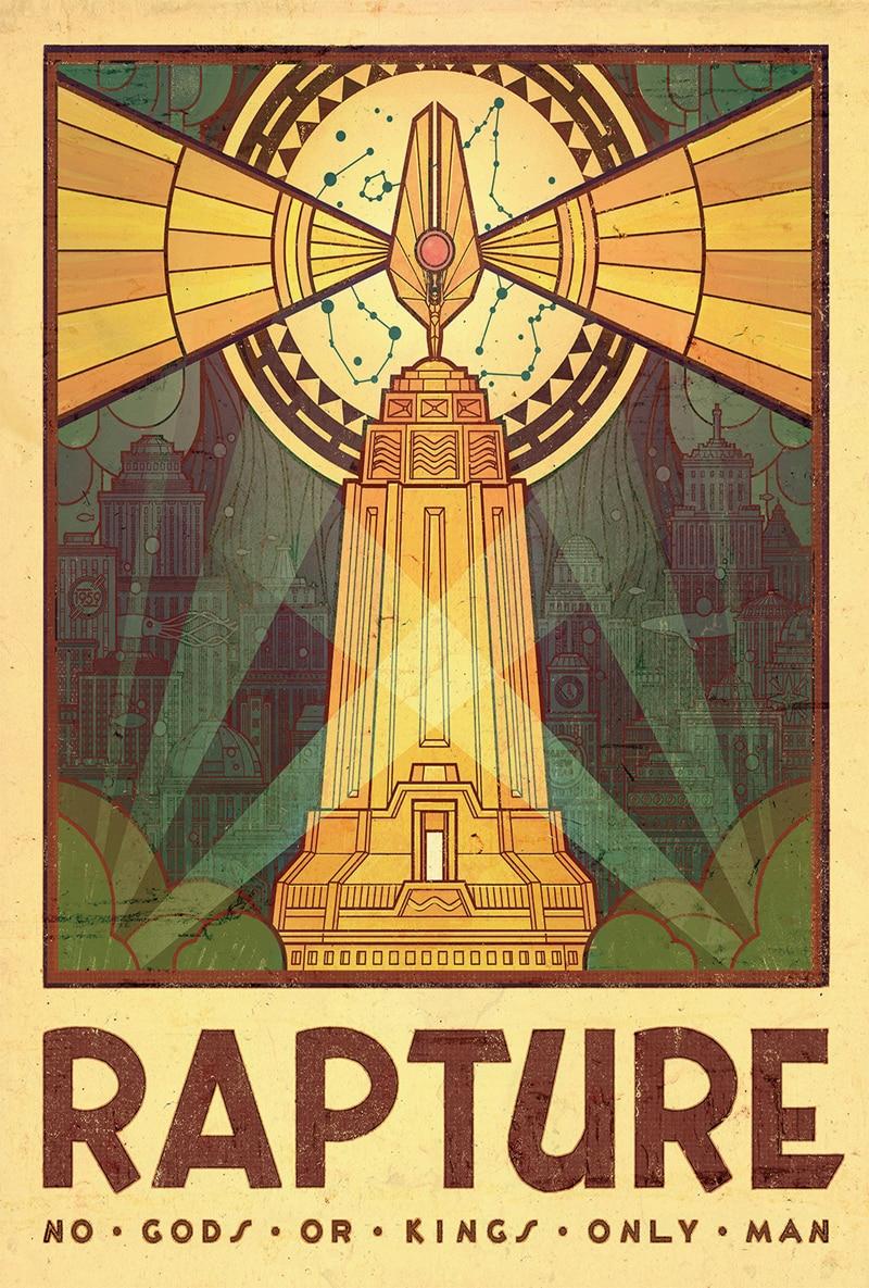 D333 New Game Cover BioShock Rapture Tourism Custom Silk Poster Art ...