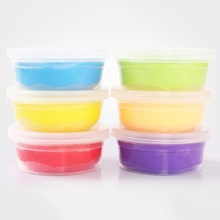 Fluffy Slime Crystal Toys 12 Colors Light Clay Soft Model DIY Kid Gift Snow Polymer Plasticine Kit Fruit Box Playdough Set