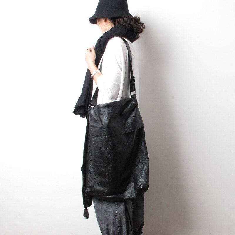 free shipping Original handmade dermal leather bags personality vintage women bag art single shoulder bag size 35*47cm
