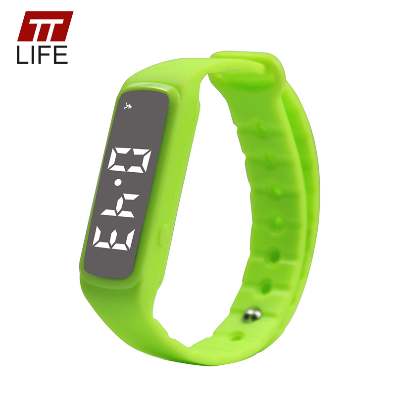 TTLIFE CD5 Sport Smart Watch Pedometer LED Children Band Kids Temperature Fitness Monitor Digital Wristband