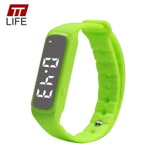 TTLIFE CD5 Deporte Podómetro Reloj Inteligente LED Niños Band Kids Fitness Monitor de Temperatura Digital Pulsera Niño Niña
