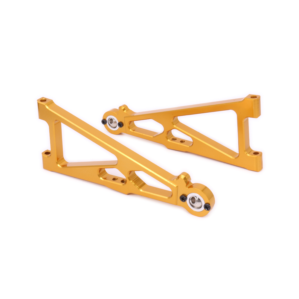 2PCS Aluminum RCAWD Front Lower Suspension Arm For Rc Model Car 1/10 Himoto Big Foot Monster Truck E10Mtl E10Mt E10Bp 33602 Part front lower suspension arm 06011 upgrade part 106019 b for 1 10 rc car hsp redcat himoto racing