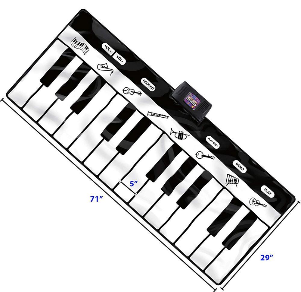 Tapis de jeu de clavier gigantesque, tapis de Piano 24 touches, 8 Instruments de musique sélectionnables + jeu-enregistrement-lecture-mode démo - 5
