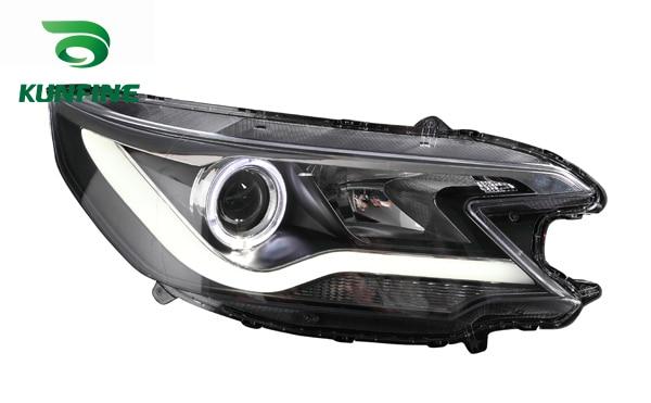 Пара автомобиль передняя фара в сборе для Honda CRV2012 Тюнинг детали фары лампы Ангел глаз объектива проект с дневным светом фар