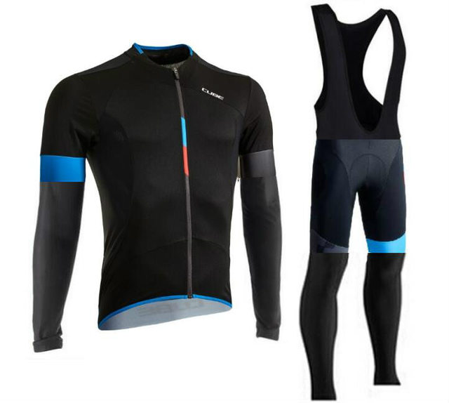 maillot Cube bike jerseys Set long sleeve ropa ciclismo bike 2017 cycling clothes teams Quick-Dry Sports clothing