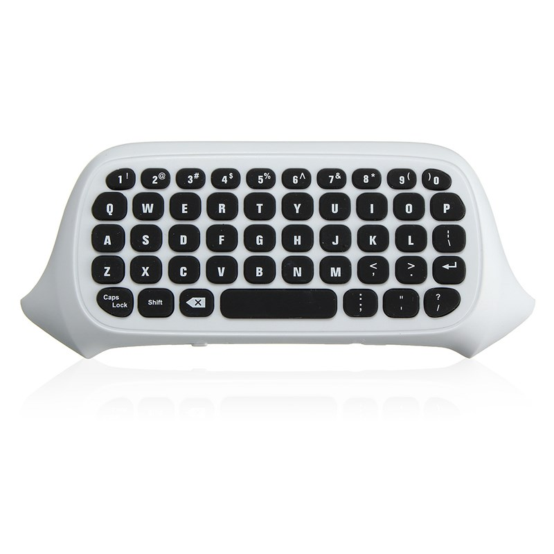 цена 47 Keys 2.4G USB Mini Wireless Chatpad Message Keyboard Keypad for XBOX ONE Game Controller Wireless Keyboard Black/White