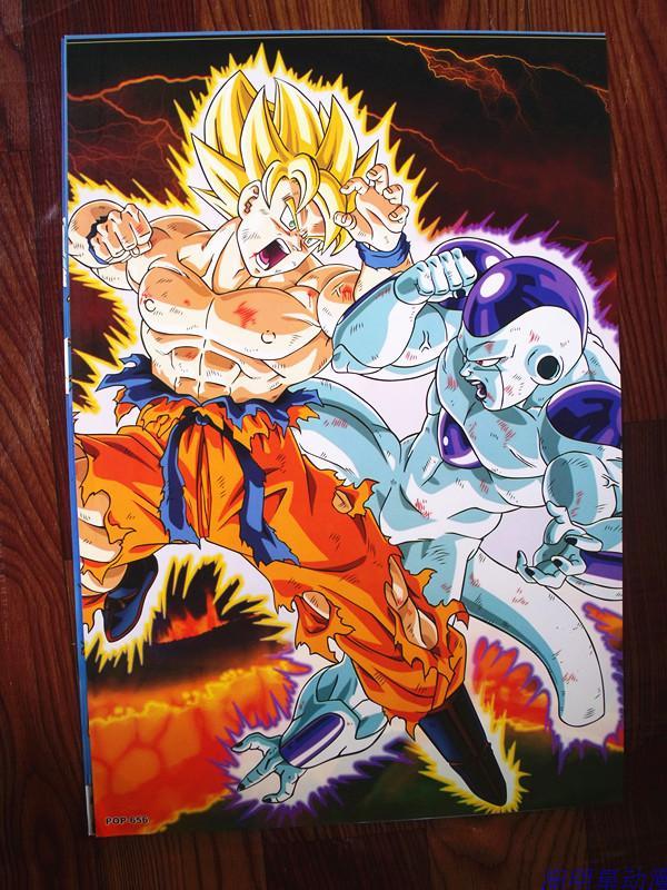 8 ensembles = 64 pièces L'anime Dragon Ball Z affiche super Goku Vintage Frieza différents modèles affiches d'art pour murs 42x29 cm livraison gratuite-in Jeux d'action et figurines from Jeux et loisirs    3