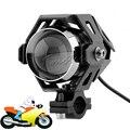 Motorcycle U5 LED Headlight 3000LM 125W Driving Fog Spot Light White Auxiliary Lamp for Honda Kawasaki Yamaha Suzuki KTM