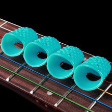 Introductory guitar fingerstall, guitar string finger cot, protect finger prevent pain silicon material недорого