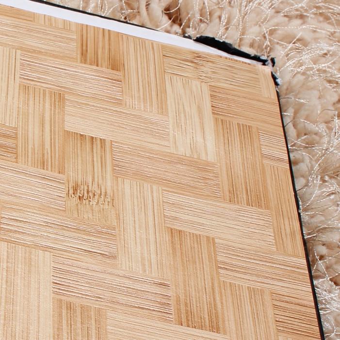 Купить с кэшбэком Modern Chinese Style Wallpaper Imitation Straw Bamboo Aisle Hotel Ceiling Full Wall Paper Roll