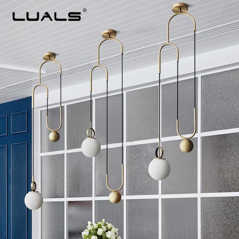 Fashion Indoor Lighting Modern LED Pendant Lamp Iron Ring Suspension