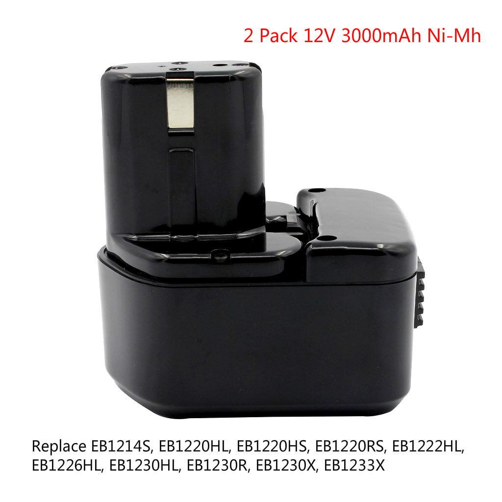 2X 12V 3.0Ah Ni-Mh Rechargeable Tools Battery for Hitachi EB1220HL EB1226HL EB1230HL EB1230X 322629 323226 324279 324360 2 x new 3 5ah ni cd 12v 12 volt battery for makita 1220 1222 1233 1234 192681 5 192696
