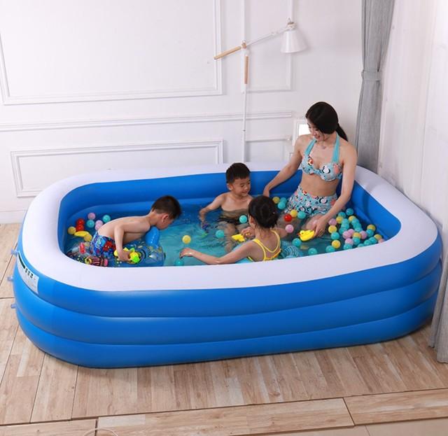 Надувной бассейн портативный открытый детский бассейн для купания Крытый надувной бассейн