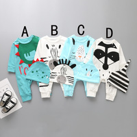 2017 summer newborn baby rompers girls boys hats romper clothes sets infant boy jumpsuits toddler girl spring autumn fashion set