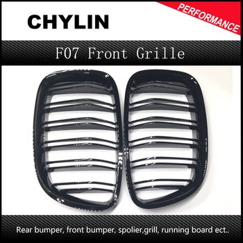 A Pair Glossy Black Front Grille For BMW 5-Series GT F07 528i 535i 550i 2010-2016