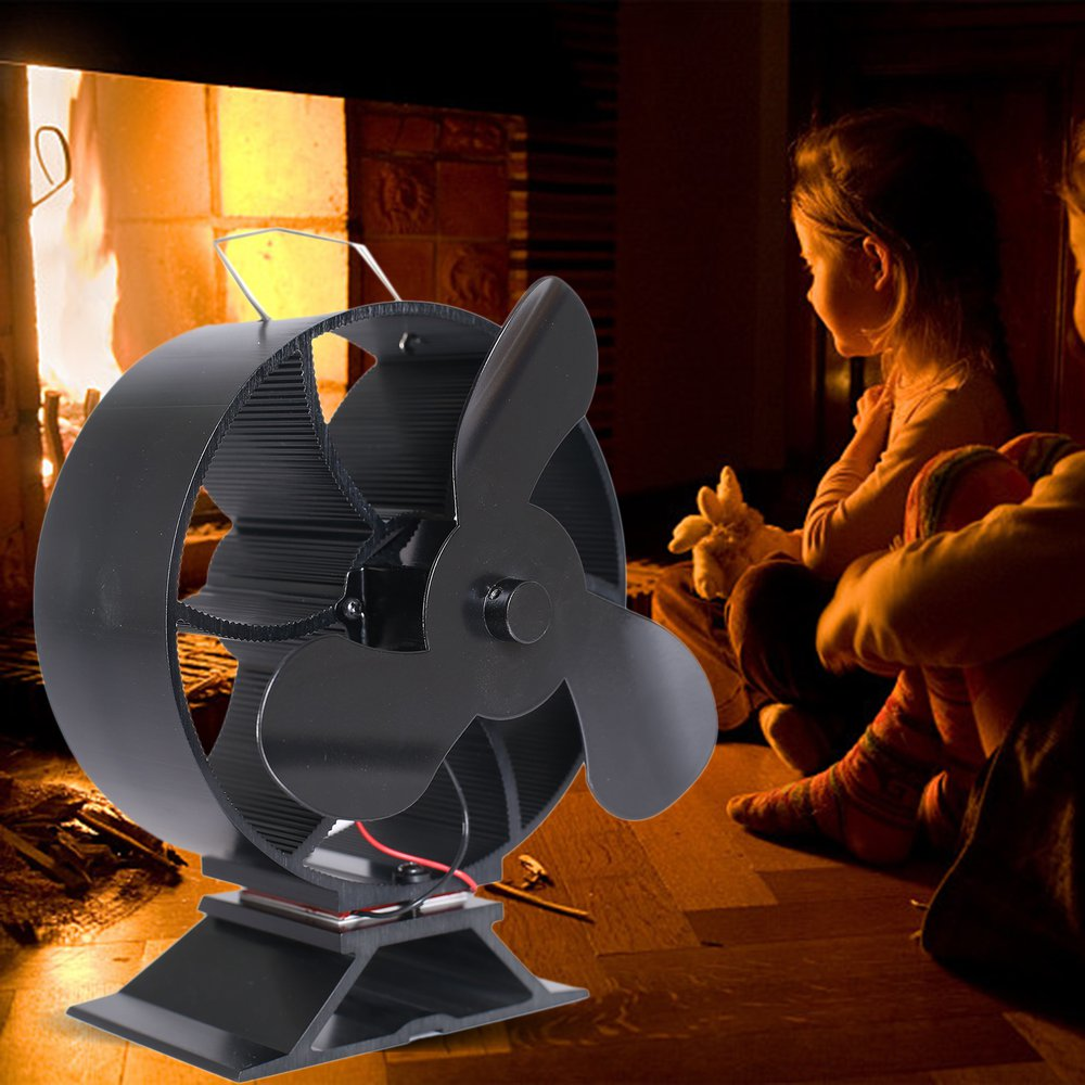 3-Blade Heat Powered Stove Fan Wood/Log Burner/Fireplace Increases 80% More Warm Air Than 2 Blade Fan- Eco Friendly3-Blade Heat Powered Stove Fan Wood/Log Burner/Fireplace Increases 80% More Warm Air Than 2 Blade Fan- Eco Friendly