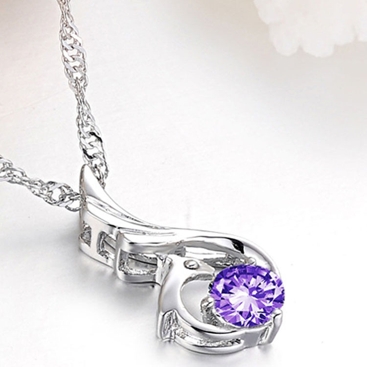 Female Korean Style Favourite Romantic Elegant Phoenix Woman Pendant Necklace Charming Jewelery