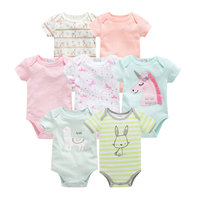 2019 summer baby girl rompers overalls cute cartoon newborn baby clothes striped 0 12M infant girl jumpsuit onesies for kids