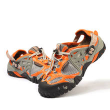 2017 Men Outdoor Sneakers Breathable Hiking Shoes Men Women Outdoor Hiking Sandals Men Trekking Trail Water Sandals Waterproof