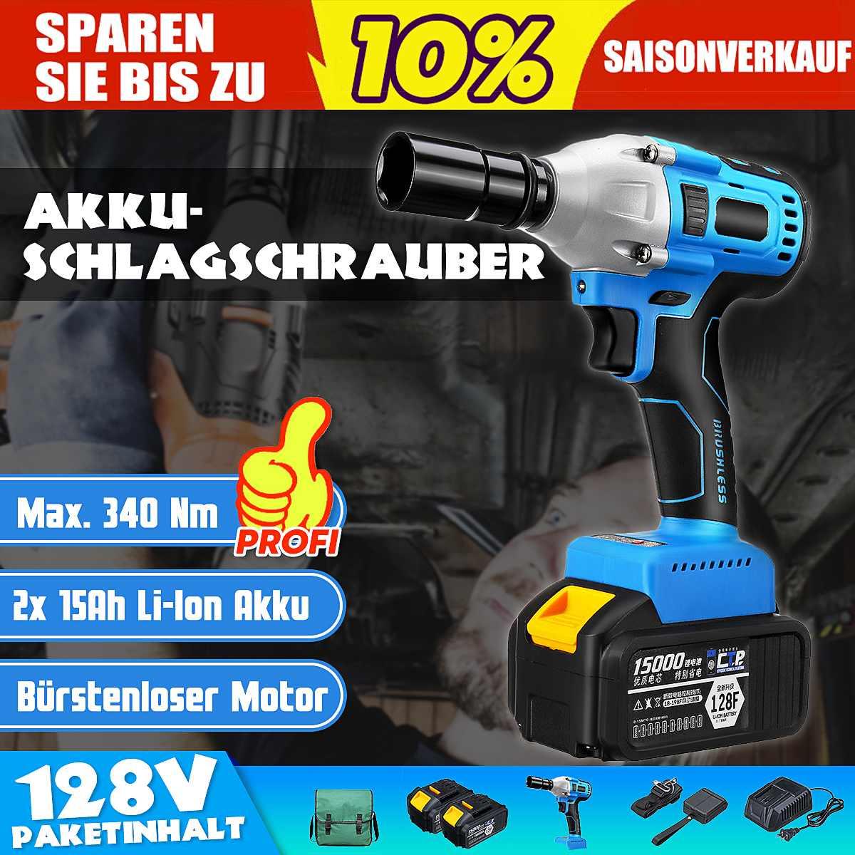 100-240 V AC sans brosse/sans fil clé électrique à chocs clé à douille 15000 mAh Li batterie perceuse à main Installation outils électriques