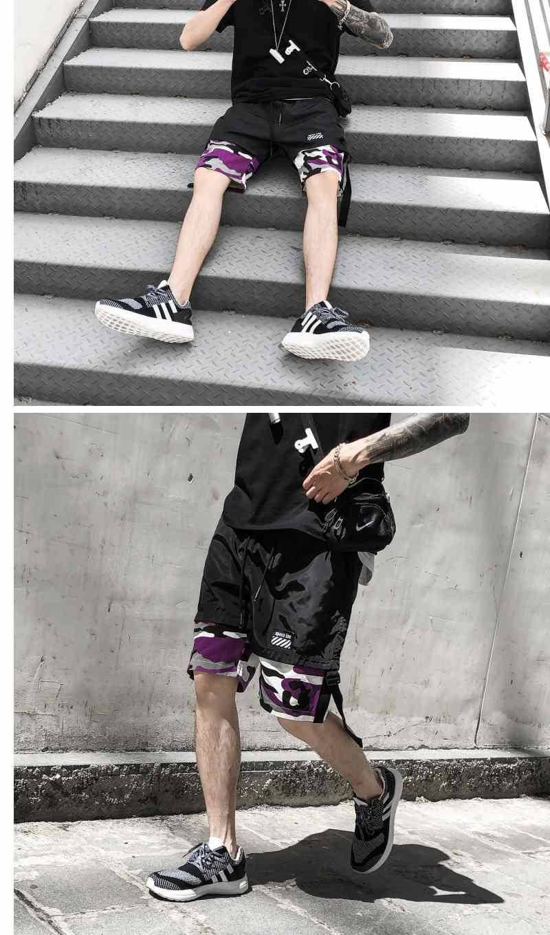 de trabalho calças curtas legal camuflagem fino
