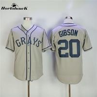 Horlohawk 2017 Nieuwe Baseball Jersey Josh Gibson #20 Homestead Grays Negro Nationale League Button Down Baseball Jersey