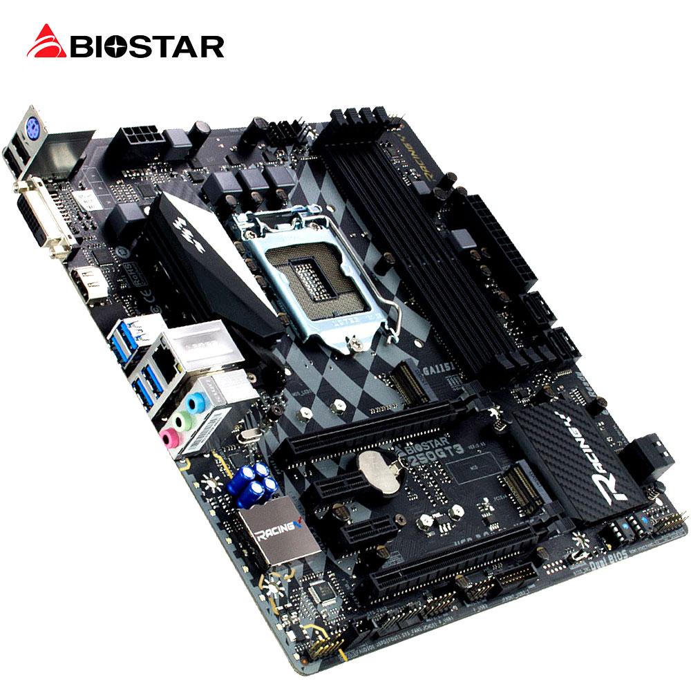 все цены на  BIOSTAR New Motherboard RACING B250GT3 For Intel Core I3 I5 I7 6700 7700 6600 K Micro-ATX LGA 1151 DDR4 Hi-Fi Computer Mainboard  онлайн