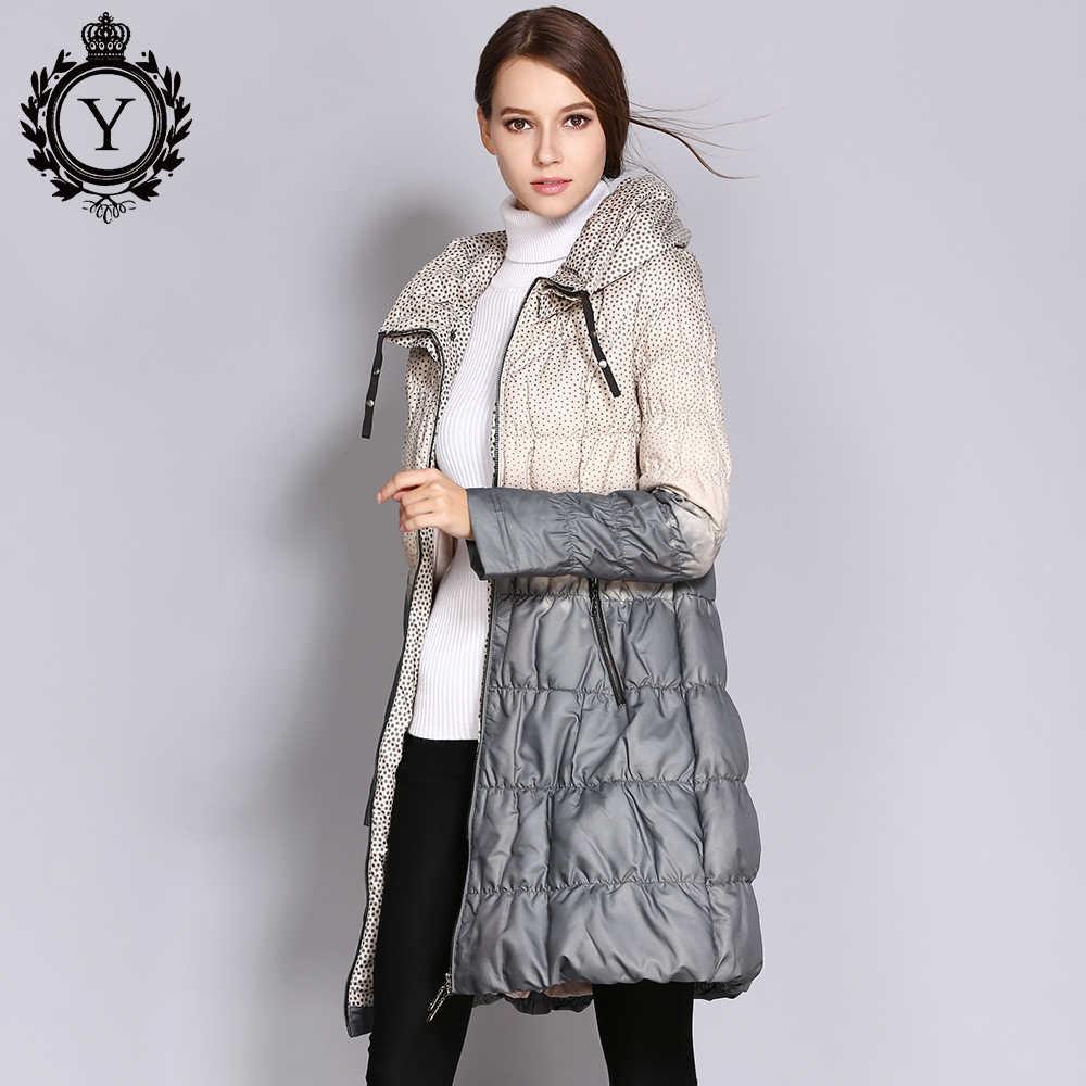 Coutudi 2019 Winter Down Jas Vrouwen Parka Vrouwelijke Lange Eendendons Gewatteerde Jas Down Parka Hit Kleur Hoge Kwaliteit Vrouwen kleding