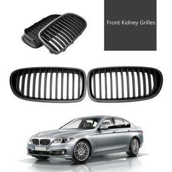 2Pcs Matte Black Front Kidney Grilles for BMW 5 Series 520i F10 523i 10-14 Car Decorative Accessory Replacement Grille Promtoion image