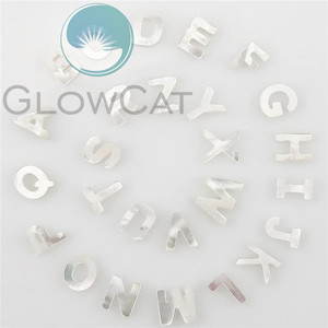 Image 4 - 26pcs Alphabet ABC For DIY Letter Shell Jewelry White Initial Hot Sale Letters A Z Natural Mother of Pearl Seashell Charms