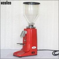 XEOLEO Professional турецкий кофе шлифовальные станки алюминий Электрический кофемолка 250 Вт эспрессо кофемолка черный/красный