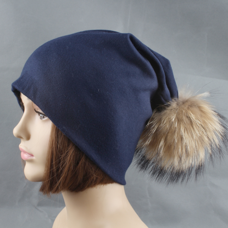 Rudens žiemos unisex vientisos spalvos medvilnės skullies pupelės - Drabužių priedai - Nuotrauka 2
