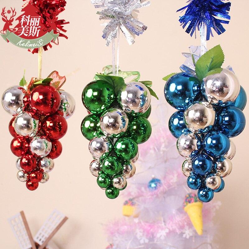 widget de rbol de navidad color uva racimos conjunto bolas de decoracin navidad decorar el hotel quiosco en navidad de casa y jardn en aliexpresscom - Como Decorar Una Bola De Navidad