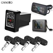 CAREUD U912 TPMS Für Toyota/U903/U906C Auto Reifendruck Drahtlose Überwachungssystem mit 4 diebstahl internen Sensoren