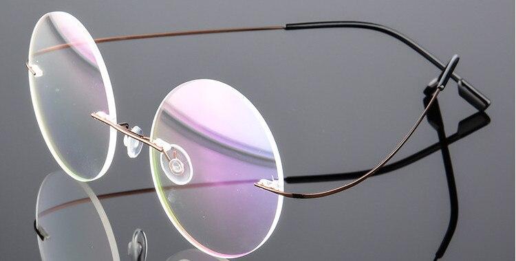 02145231915 Dropwow Eyesilove titanium rimless Reading Glasses ultra-light women ...
