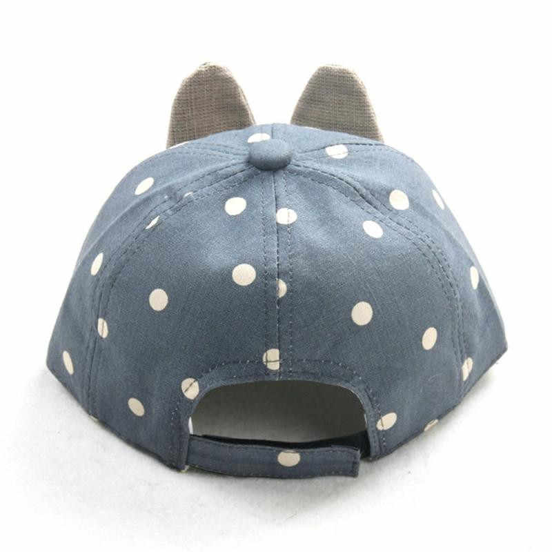 卸売ドロップ配送赤ちゃんビーニー用男の子女の子長いウサギの耳子供ドット帽子ベビービーニー2018 S3MAY16