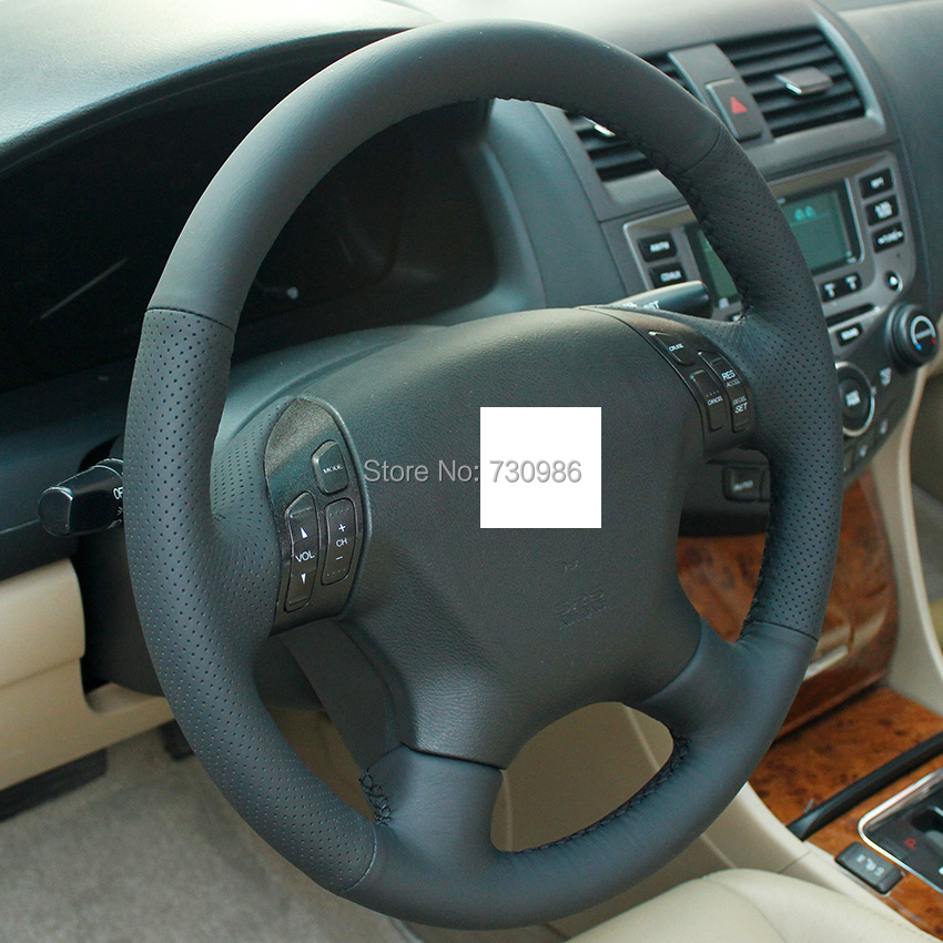 Xuji Steering Wheel Cover For Honda Accord 7 2004 2005 2006 2007 Car Special Hand Sched Black Genuine Leather Covers In From Automobiles