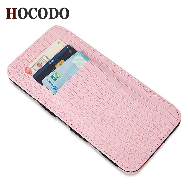 HOCODO Unisex Wallet Crocodile-Pattern Purses Card-Holder Fashion Long Flip And Ultra-Thin