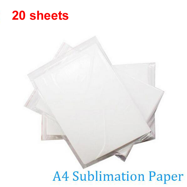 Free shipping Cheap High quality 20 sheets A4 tansfer paper sublimation paper For mug glass rock