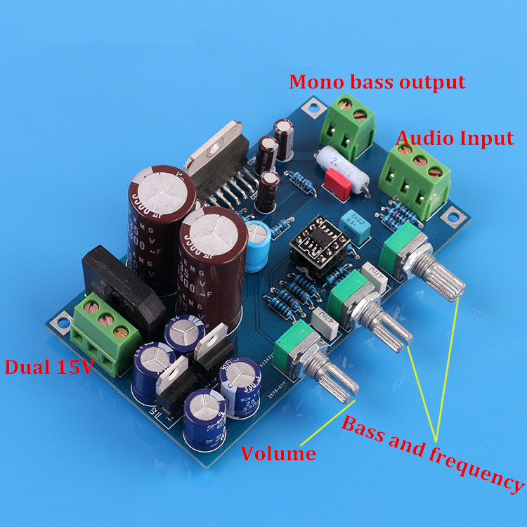 DIY KITHIFI Low Pass Filter Board / Subwoofer / Preamp NE5532 TDA7293 / 100W Mono Pitch Board Kit