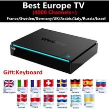 Meilleur Europe iptv Boîte Wechip V3 Android TV Allemagne Boîte IPTV français Itlay Portugal ROYAUME-UNI Arabique Indienne CHAUDE CLUB Sur 4000 IPTV boîte